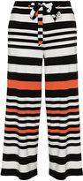 Manon Baptiste Plus Size Striped trousers