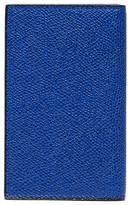 Valextra Leather business card holder Royal Blue