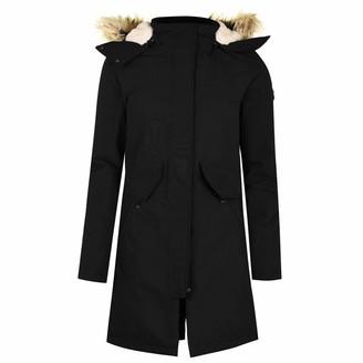 Karrimor Womens Parka Jacket Coat Top Waterproof Windproof Breathable Hooded Zip Black 18 (XXL)