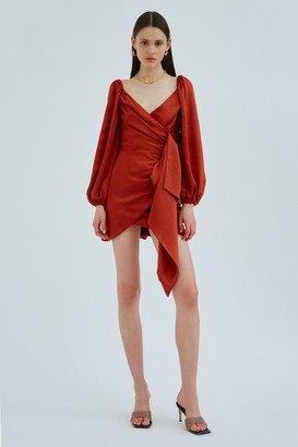 C/Meo ORBITAL LONG SLEEVE DRESS Rust