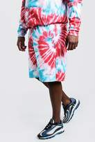 BoohooMAN Big & Tall MAN Embroidered Shorts In Tie Dye