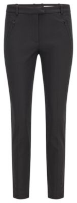 BOSS Slim-fit trousers with zipped hems