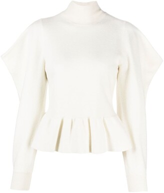 Ulla Johnson Puff-Sleeved Gathered Knitted Jumper