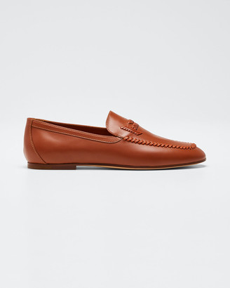 Tod's Selleria Woven Flat Loafers