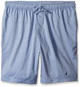 Nautica Men's Big-Tall Blue Herringbone Sleep Short
