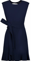 Sandro Belted Cutout Crepe Mini Dress