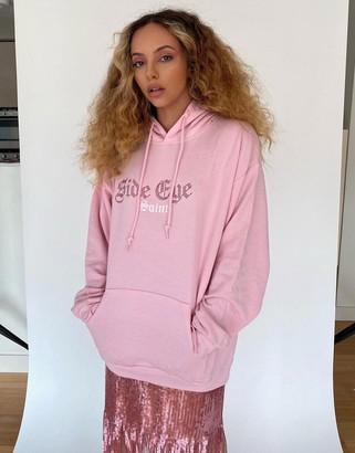 Skinnydip x Jade Thirlwall relaxed hoodie with side eye diamante hoodie co-ord