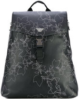Emporio Armani embroidered backpack - men - Polyamide/Polyester/Polyurethane - One Size