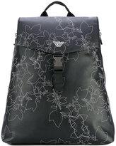 Emporio Armani embroidered backpack - men - Polyurethane/Polyester/Polyamide - One Size