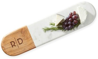 Mark And Graham Wood and Marble Oval Cheese Board