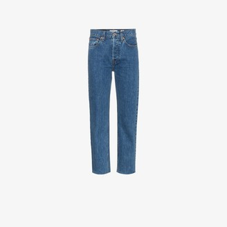 RE/DONE Stove Pipe high waist cropped jeans