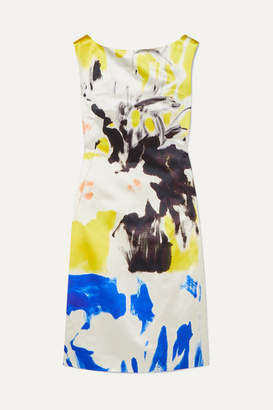 Dries Van Noten Printed Cotton And Silk-blend Dress - Yellow