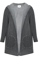 Zizzi Plus Size Distressed hooded pocket detail cover-up