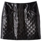 Mossimo Women's Faux Leather Quilted Mini Skirt -Black