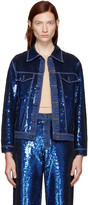 Ashish Navy Sequin Denim Jacket
