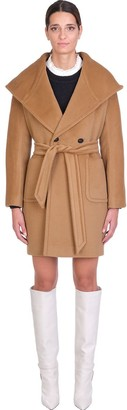 Tagliatore Chelsey Coat In Leather Color Wool