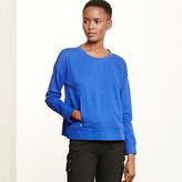 Ralph Lauren Zip-Pocket Crewneck Sweatshirt