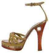 Louis Vuitton Suede Platform Sandals