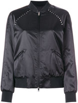 Valentino Rockstud Untitled bomber jacket - women - Cotton/Linen/Flax/Viscose - 40