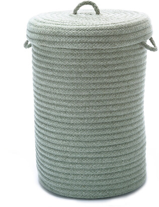 Colonial Mills Wool Blend Moss Green Hamper With Lid