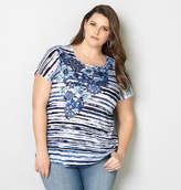 Avenue Floral Striped Tee