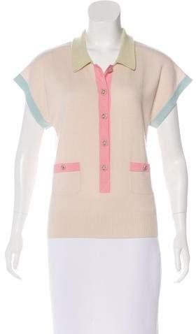 Chanel Colorblock Cashmere Top