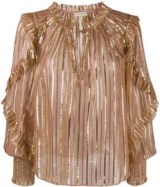 Ulla Johnson Lucinda lurex striped blouse