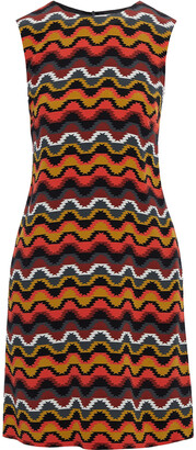 M Missoni Printed Silk Crepe De Chine Mini Dress