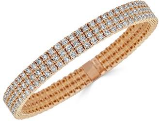 Zydo Stretch 18K Rose Gold & Diamond 3-Row Bracelet