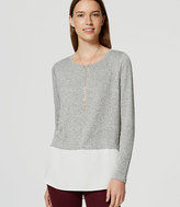 LOFT Back Button Two In One Sweater