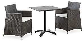 Modway Junction 3 Piece Outdoor Patio Rattan Dining Set