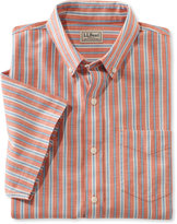 L.L. Bean Easy-Care Chambray Shirt, Traditional Fit Short-Sleeve Stripe