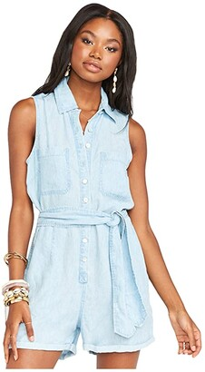 Show Me Your Mumu Rylie Romper (Shore Chambray) Women's Jumpsuit & Rompers One Piece