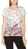 Olsen Women's Short Sleeves T-Shirt, Weiß (Off White 051ST)