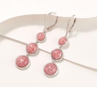 Generation Gems 3-Stone Opaque Gemstone Cabochon Drop Earrings