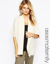 Asos Ribbed Waterfall Cardigan in Cut about