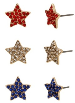 Betsey Johnson Star Stud Earrings Set