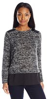Calvin Klein Women's Long Sleeve Wool Touch Top