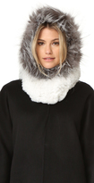 Adrienne Landau Rex Fur Hood with Fur Trim