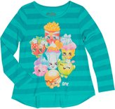 Shopkins and Moose Shopkins Long Sleeve Shirt for Girls (Small 6/6x, Pink Stripe-SPK)