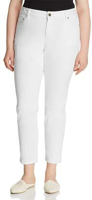 MICHAEL Michael Kors Selma Skinny Ankle Jeans in White