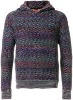 Missoni chevron knit hoodie