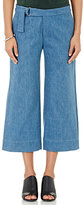 Nomia Women's Wide-Leg Crop Pants-Blue Size 4