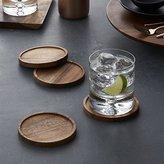 Crate & Barrel Set of 4 Acacia Coasters