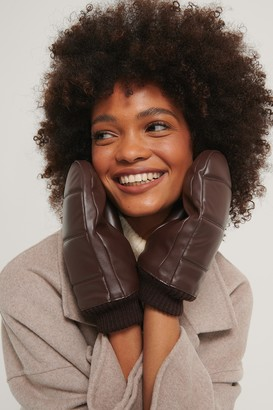 NA-KD Puffy Quilted Mittens