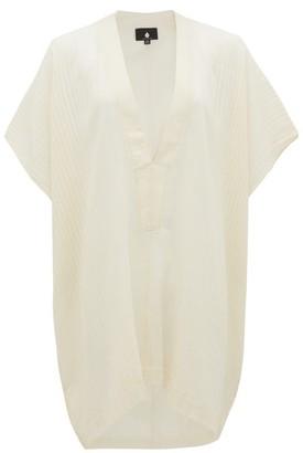 SU PARIS Lamu Ribbed Cotton Tunic - White