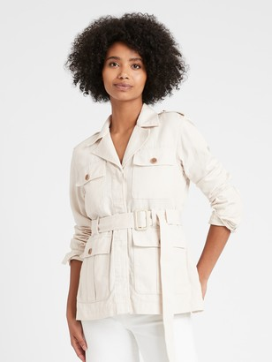 Banana Republic Heritage Cotton-Linen Safari Jacket