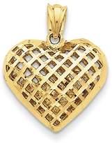 Key Collection 14k Fancy Mesh Heart Charm