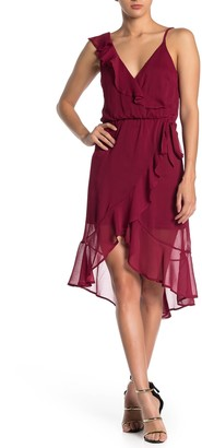Max & Ash Ruffle High/Low Hem Dress