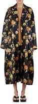 Dries Van Noten Women's Rankin Floral Cotton-Blend Coat-Black, Navy